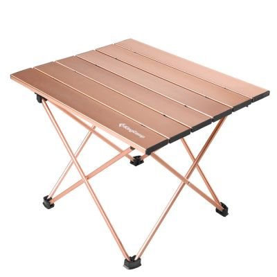 "KingCamp 22"" x 15.7""/15.7"" x 13.3"" Ultralight Compact Aluminum Table Folding Roll up Camping Table"
