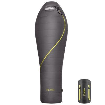 Ultralight XL Down Alternative Adult Oversize Large 620 FP Compact Mummy Sleeping Bag