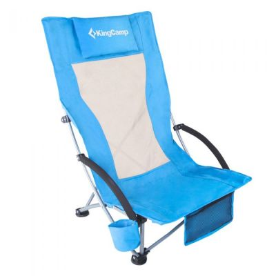 folding beach chair blue