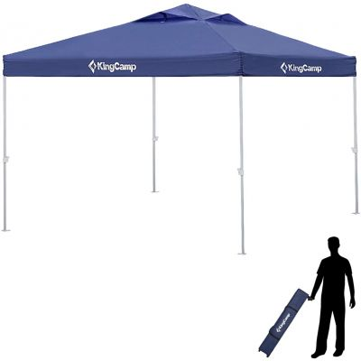 KingCamp 10' x 10' Instant Awning Outdoor Canopy Tent Durable Sunshade Storage Shelter Pavilion Cater with Wheeled Handbag