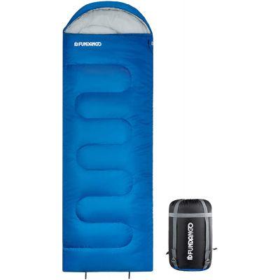 FUNDANGO 3-IN-1 Warm & Cold Weather Lightweight Compact Portable Waterproof Sleeping Bag