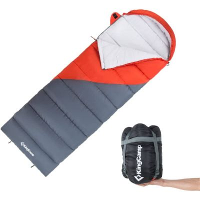 KingCamp Envelope Adult Portable Lightweight Cozy Warm Square Camping Sleeping Bag