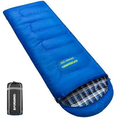 FUNDANGO Portable Camping 3 Seasons Warm Envelope Waterproof Hiking Roomy Sleeping Bag