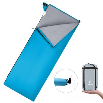 ATEPA Portable Envelope Light Square 5 Degree C / 41 Degree F 3-season Backpacking Camping Sleeping Bag