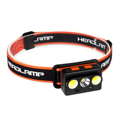 Rechargeable Waterproof 800 Lumen Headlamp, 90° Rotatable Head lighting with Motion Sensor for Adults