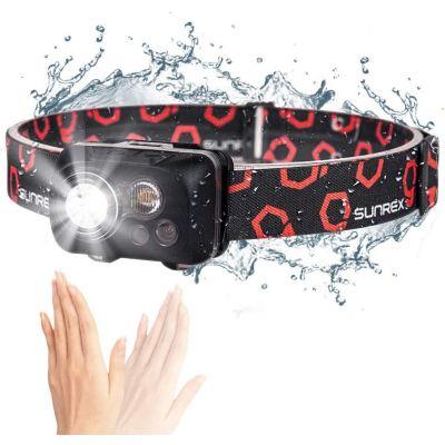 300 Lumens 5 Mode IPX8 Water Resistant White LED Headlight Motion Sensor Headlamp Flashlight