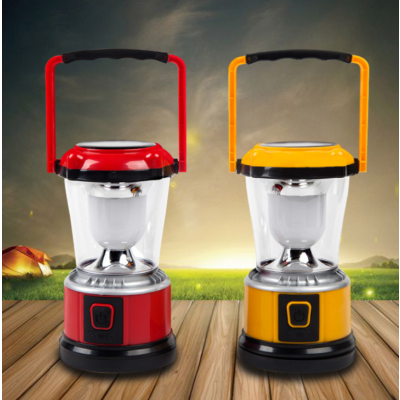 Rechargeable LED Camping Lantern Flashlight,Solar Charging Light with Hand Crank