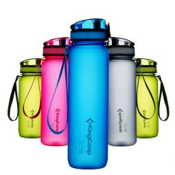 KingCamp TRITAN Water Bottle Wide Mouth Leak Proof BPA-FREE Snap Cap KA1139