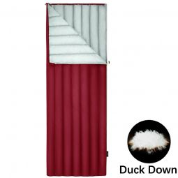 Red duck down sleeping bag