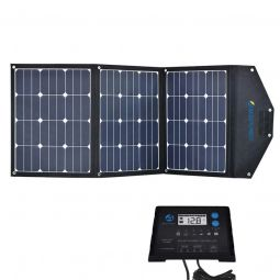 ACOPOWER 120W Portable Foldable Monocrystalline Solar Panel with LCD Charge Controller