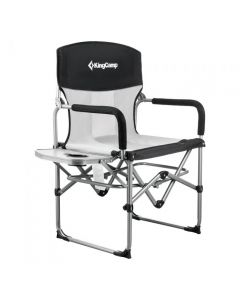 Kingcamp Folding Director Mesh Back Camping Chair for Outside with Side Table KC3824