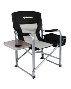 KingCamp Folding Camping Director Chair with Cooler Bag and Side Table KC3977