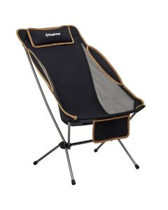 KingCamp Ultralight Adjustable Backrest High Sling Back Backpacking Camping Chair