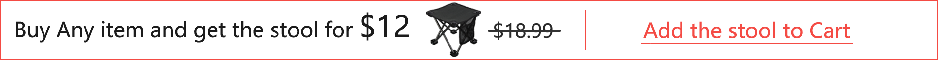 Buy any item and get the stool for $12